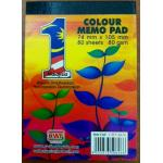 Colour Memo Pad 80G 80 Sh...
