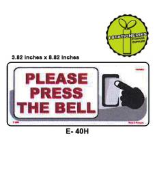 Please Press The Bell Sign Sign Board I Stationeries