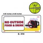 NO OUTSIDE FOOD & DRINK S...