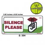 SILENCE PLEASE SIGN BOARD