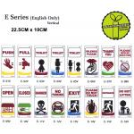 VERTICAL ENGLISH SIGN VAR...