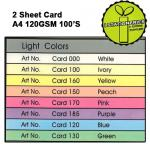 Light 2 Sheet Card A4 120...