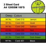 Deep 2 Sheet Card A4 120G...